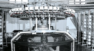 Intricate Optibelt timing belts in use in the textile industry